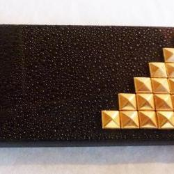 Rain Drop black Cover With Gold Studded Iphone 4 Case